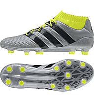 Adidas ACE 16.1 Primeknit FG - Fußballschuhe, Grey/Yellow