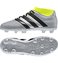 Adidas ACE 16.3 Primemesh FG/AG Jr - Kinder Fußballschuhe, Grey/Yellow