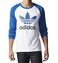 Adidas Originals Trefoil - langärmliges Shirt, White/Light Blue