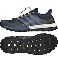 Adidas Adistar Raven Boost - scarpa trail running, Natural Navy/Mineral Blue