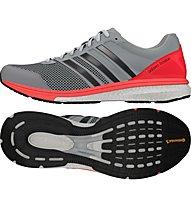Adidas Adizero Boston Boost 5 scarpa running, Clear Onix/Red