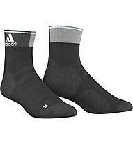 Adidas Energy Ankle Thin Cushioned calzini running, Black