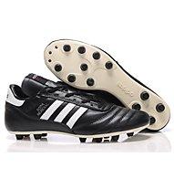 Adidas Copa Mundial Leather FG Cleats Scarpe da calcio terreni compatti, Black/Runninwht