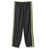 Adidas Essential 3S pantaloni da ginnastica, Grey Heather/Solar Yellow