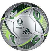 Adidas EURO16 Glider - Fußball Hartplatz - Turf, Silver/Green
