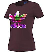 Adidas Originals Graphic Trefoil T-Shirt fitness donna, Red