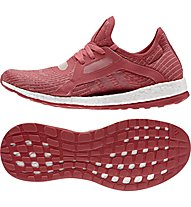 Adidas Pure Boost X - scarpe running donna, Red