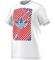 Adidas Originals Stripes Trefoil T-Shirt, White