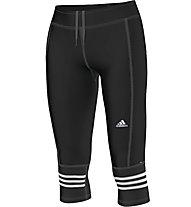 Adidas Tight 3/4 Response pantaloni running 3/4 donna, Black/White