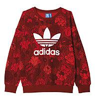 Adidas Originals Trefoil Sweatshirt Damen Fitness- und Freizeitpullover, Red