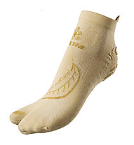 Akkua Yoga Natural Socken, Ecru/Gold