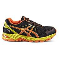 Asics Gel Stormplay GS G-TX - Trail Running Schuhe für Kinder, Black/Orange