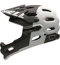 Bell Super 2R Mips All Mountain/Enduro/Freeride/DH Helm, black/white aggression