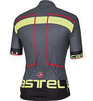 Castelli Velocissimo Jersey FZ, Grey/Red/Yellow