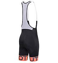 Dotout Stripe Bibshort, Black/Orange