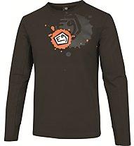 E9 Squad T-Shirt Herren Kletter- und Bouldershirt Langarm, Brown