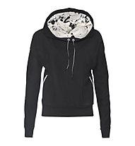 Freddy Brushed Fleece Pullover Damen, Black/Anthracite
