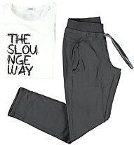 Freddy Completo: pantaloni + T-shirt Jersey, Dark Grey/White