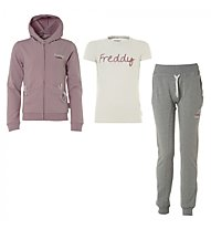 Freddy Trainingsanzug + T-Shirt Mädchen, Grey Melange/Rose