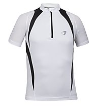 Get Fit Runningshirt C/Zip M, White/Black