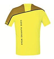 GORE RUNNING WEAR Fusion Zip Shirt maglietta running, Yellow/Gold