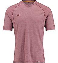 Kaikkialla Mainio Wool Shirt Herren T-Shirt Kurzarm, Red