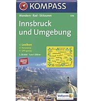 Kompass Karte Nr. 036 Innsbruck und Umgebung | Innsbruck e dintorni 1:35.000, 1:35.000