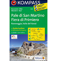 Kompass Carta N° 622 Pale di San Martino - Fiera di Primiero, 1: 25.000