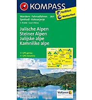 Kompass Karte Nr. 2801 Julische Alpen - Steiner Alpen, 1: 75.000