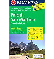Kompass Carta N° 76 Pale di San Martino, 1: 50.000