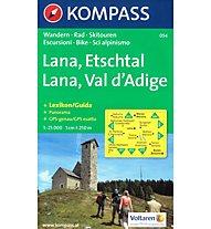 Kompass Carta Nr. 054 Lana - Val d'Adige, 1:25.000
