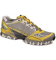 La Sportiva Bushido Woman Scarpa Trailrunning Donna, Light Grey/Yellow