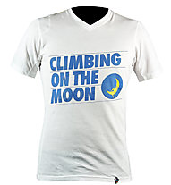 La Sportiva Climbing On The Moon T-shirt arrampicata, White