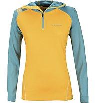 La Sportiva Saturn Hoody Damen Tourenpullover mit Kapuze, Yellow