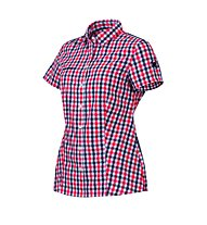 Mammut Kirsi Shirt Camicia a maniche corte trekking donna, Poppy/Dark Indigo