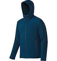 Mammut Polar Hooded ML Jacket Herren Fleecejacke mit Kapuze, Blue