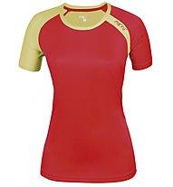Meru New Speed Techno T-Shirt trekking Donna, Coral/Lemon