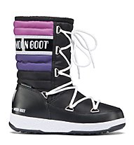 Moon Boot WE Quilted Jr - Moon Boot, Black/Violet/Orchid