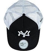 New Era MLB Clean Trucker Schirmmütze, Black/Optic White