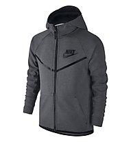 Nike Boys' Nike Sportswear Tech Fleece Windrunner Hoodie - Kapuzenjacke Jungen, Carbon