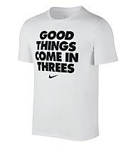 Nike Core Verbiage 1 Basketball T-Shirt, White