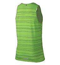 Nike DF Cool Tailwind Stripe Tank canotta running, Green