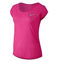 Nike Dri-FIT Cool Breeze T-shirt running donna, Pink
