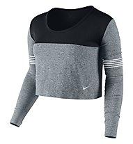 Nike Dri-FIT Knit Epic Crew Frauen, Classic Charcl/Black/Grey