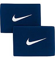 Nike Guard Stay II - fascia parastinchi da calcio, Navy/White