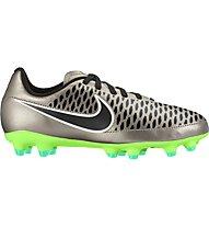 Nike Jr. Magista Onda FG - Fußballschuhe, Silver/Green