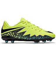 Nike Junior HyperVenom Phelon II FG - scarpa da calcio bambino, Volt/Black