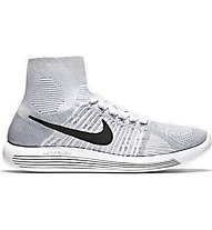Nike Lunarepic Flyknit Laufschuh Damen, White/Black