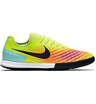 Nike MagistaX Finale II IC - scarpe calcetto indoor, Volt/Black