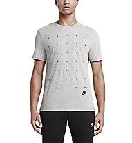 Nike Matte Silicon Futura T-shirt ginnastica, Grey/Dark Grey